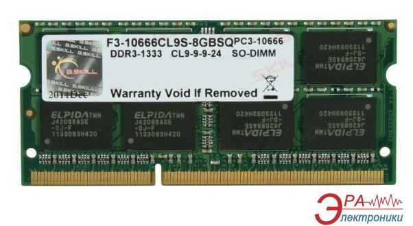 Оперативная память SO-DIMM DDR3 8 Gb 1066 МГц G.Skill (F3-10666CL9S-8GBSQ)
