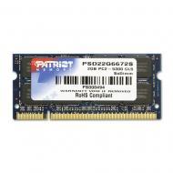 SO-DIMM DDR2 2 Gb 667 ��� Patriot (PSD22G6672S)