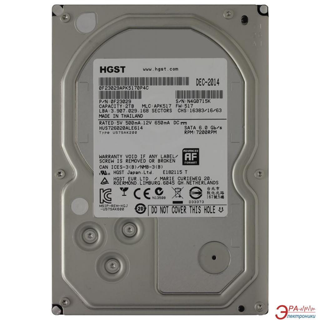 Жесткий диск 2TB HGST Ultrastar 7K6000 (0F23029 / HUS726020ALE614)