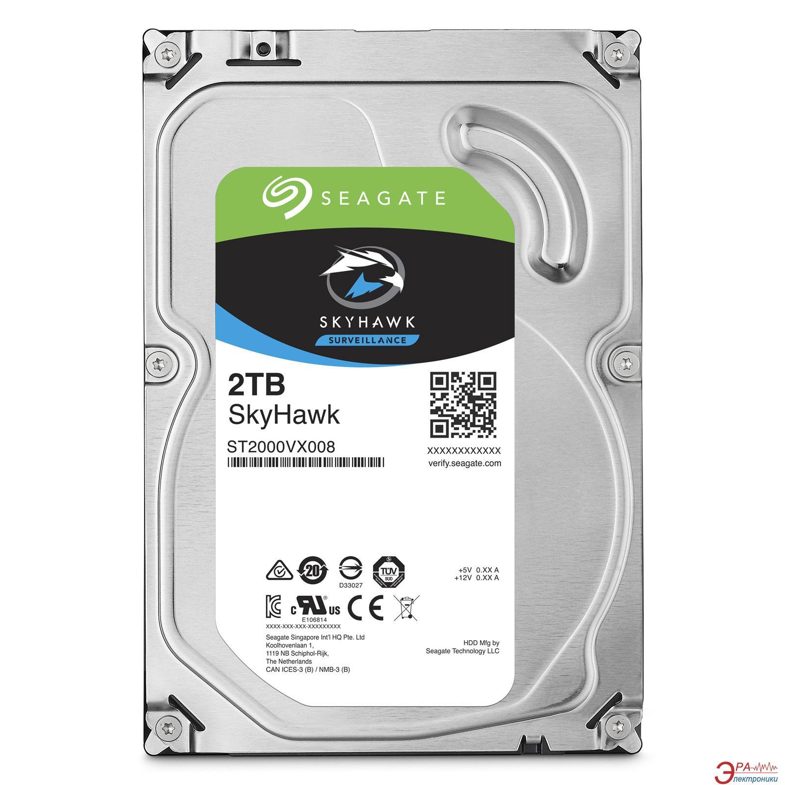 Жесткий диск 2TB Seagate SkyHawk (ST2000VX008)