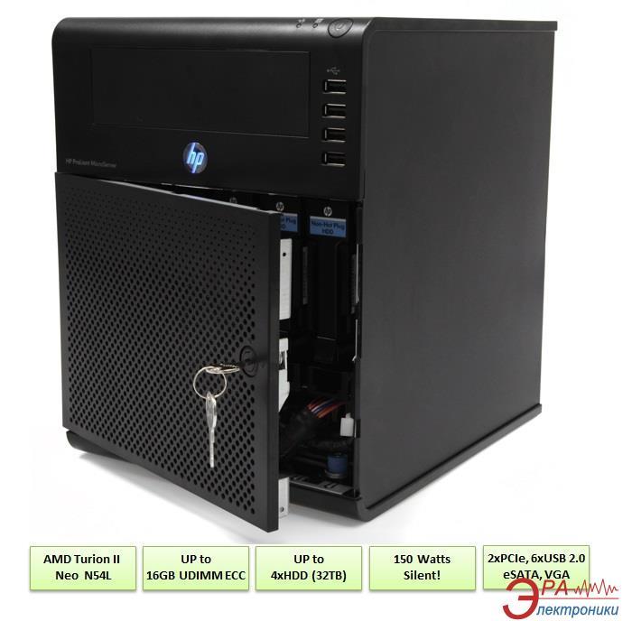 Сервер HP MicroServer N54L DC (704941-421/2)