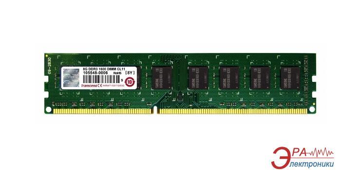 DDR3 ECC DIMM 240-контактный 8 Gb 1600 MHz Transcend (TS1GLK72V6H)