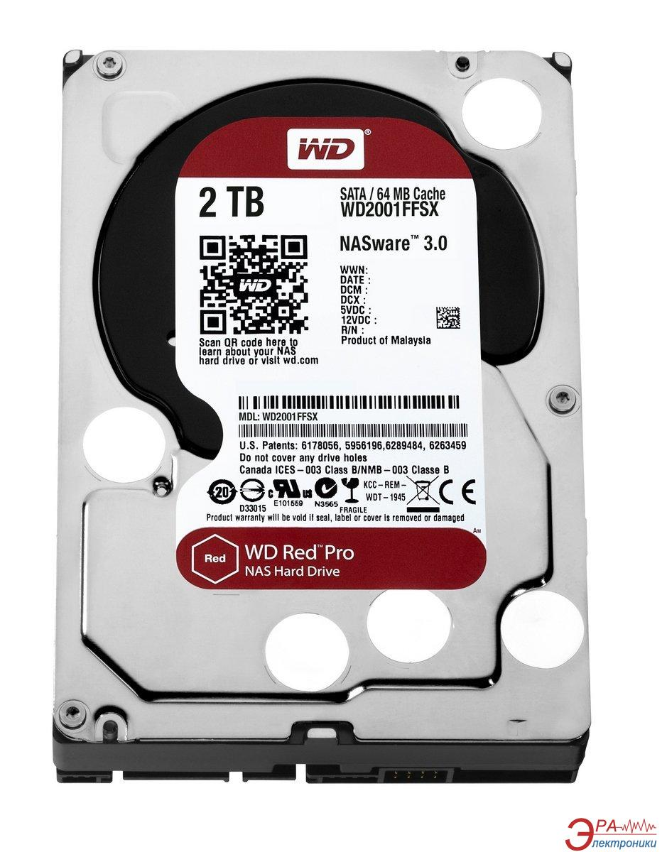 Винчестер для сервера HDD SATA III 2TB WD Red Pro (WD2001FFSX)