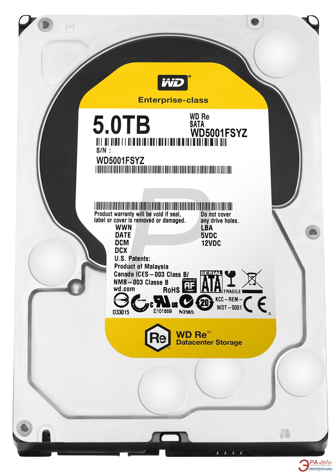 Винчестер для сервера HDD SATA III 5TB WD (WD5001FSYZ)