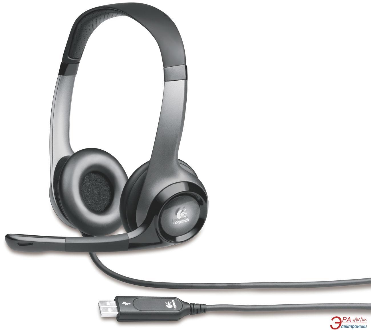 Гарнитура Logitech H530 Headset USB Black/Silver (981-000196)