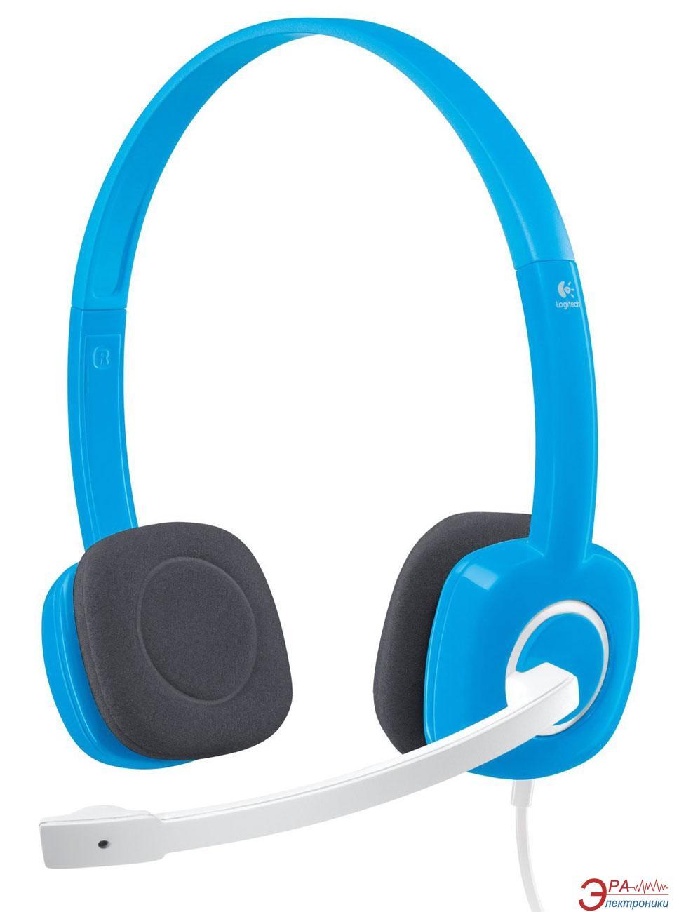 Гарнитура Logitech H150 Stereo Sky Blue (981-000368)