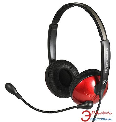 Гарнитура Sven AP-620 Black/Red