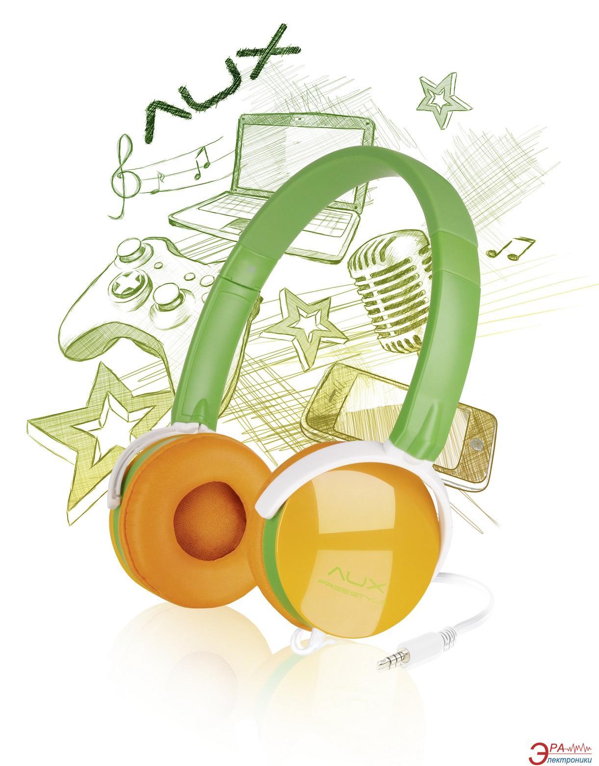 Гарнитура Speed Link Aux - Ffreestyle Stereo Headset Green-Orange (SL-8752-GNOE)