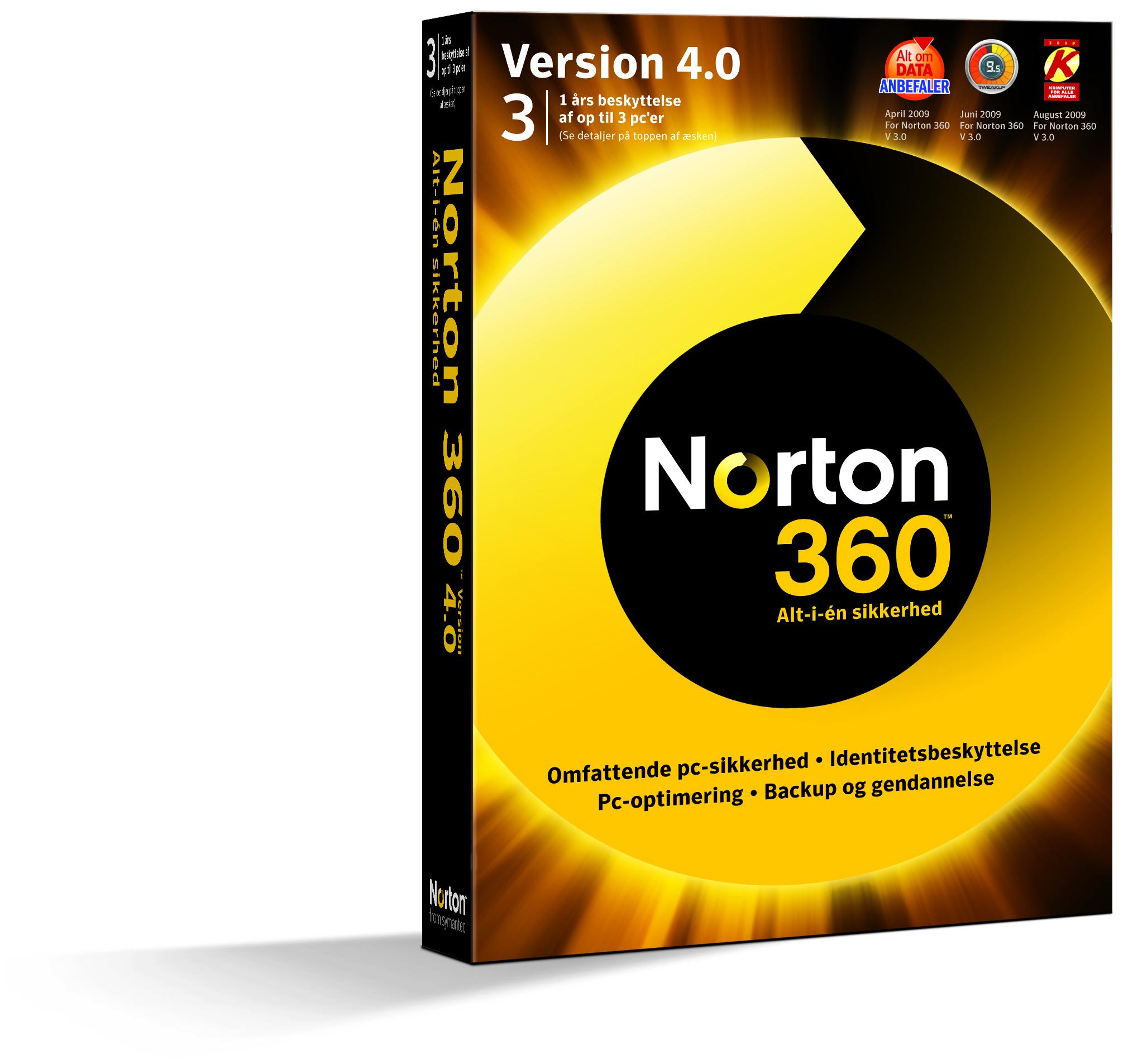 Антивирус Symantec NORTON 360 4.0 RET  (20958237) 1 USER 3 PC Русская