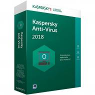 Антивирус Kaspersky Anti-Virus 2018 Base Box (DVD-Box) (5060486858101) 1 ПК 1 год Русский / Английский / Украинский