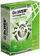 Антивирус Dr. Web® Anti-Virus PRO (BBW-W12-0002-1) BOX 1 год 2ПК Русская