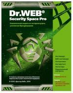 Антивирус Dr. Web® Security Space Pro, картонна упаковка, (BFW-W12-0002-6) на 12 місяців, на 1 ПК Русская
