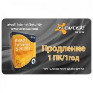��������� Avast! Pro Antivirus 2014 Renewal Card 1 PC /1 year ������� / ����������
