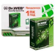 Антивирус Dr. Web® Security Space PRO (KCFW-W12-0001-2) 1 комп., 12 мес Русская