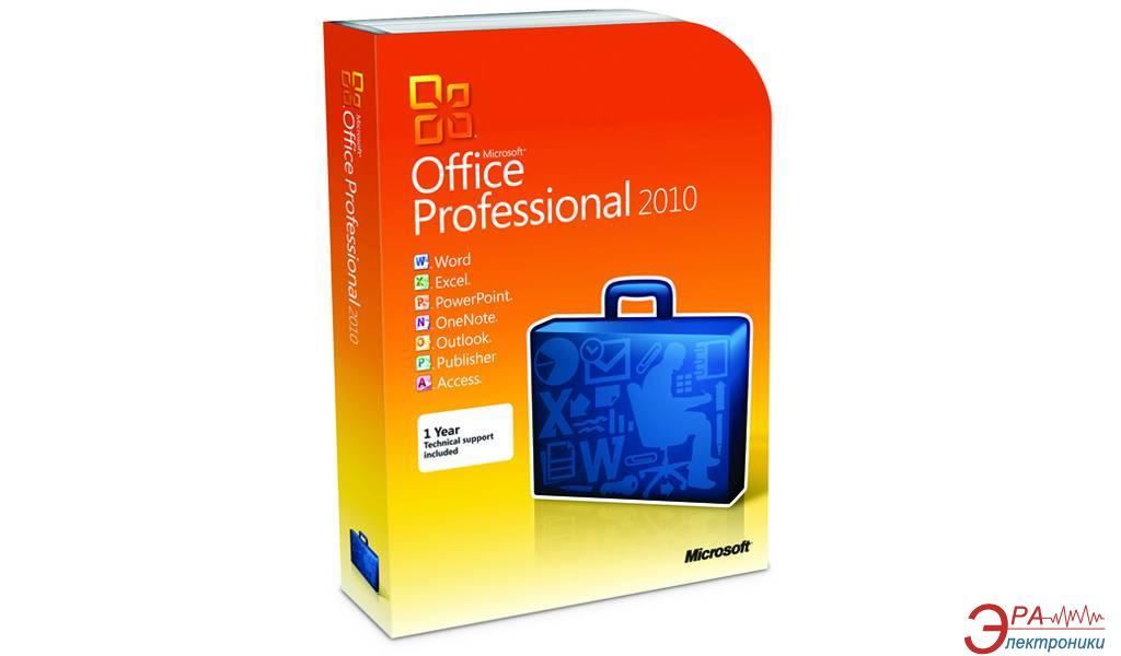 Пакет офисных приложений Microsoft Office Pro 2010 32-bit/ x64 Ukrainian DVD (269-14697)