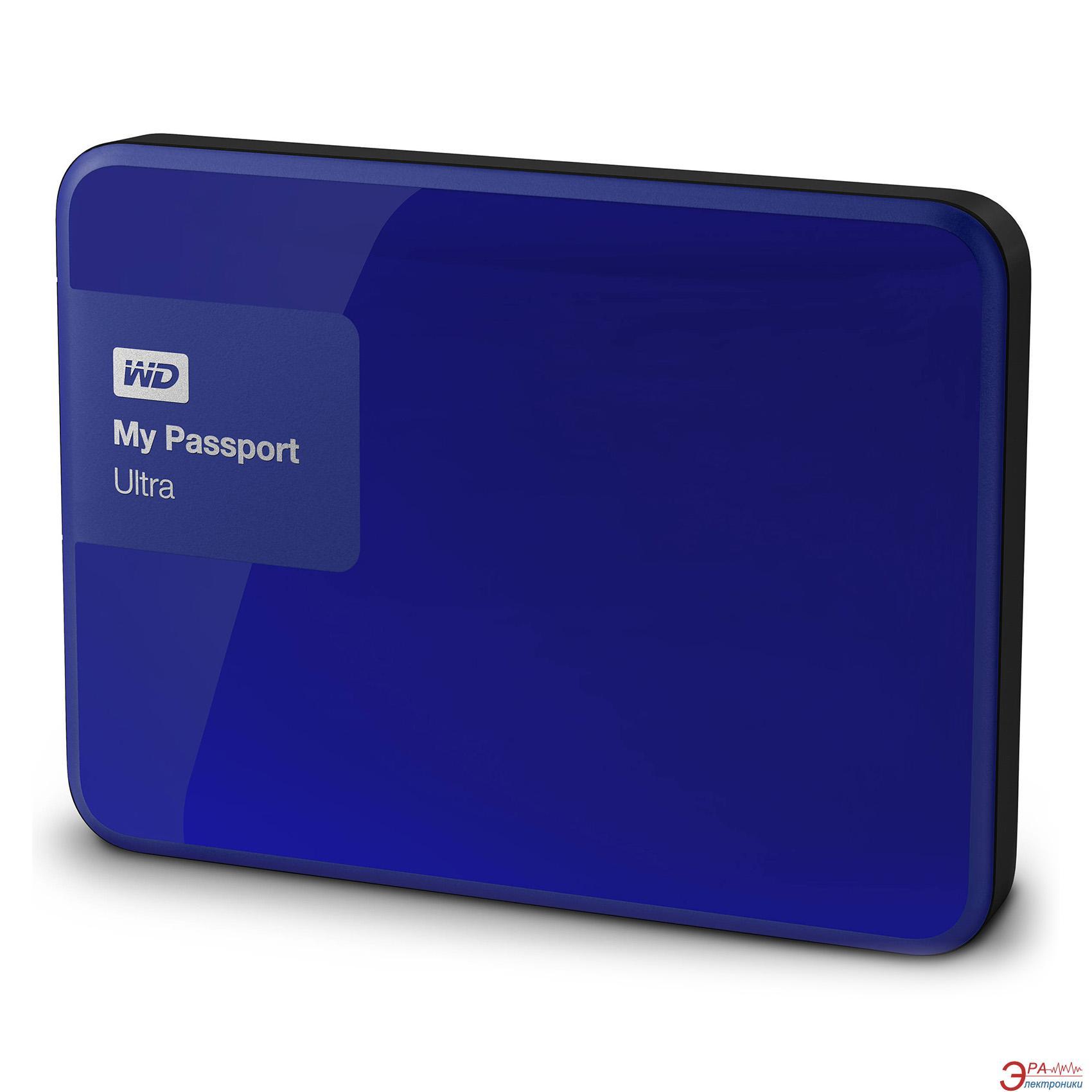 Внешний винчестер 3TB WD My Passport Ultra Blue (WDBBKD0030BBL-EESN)