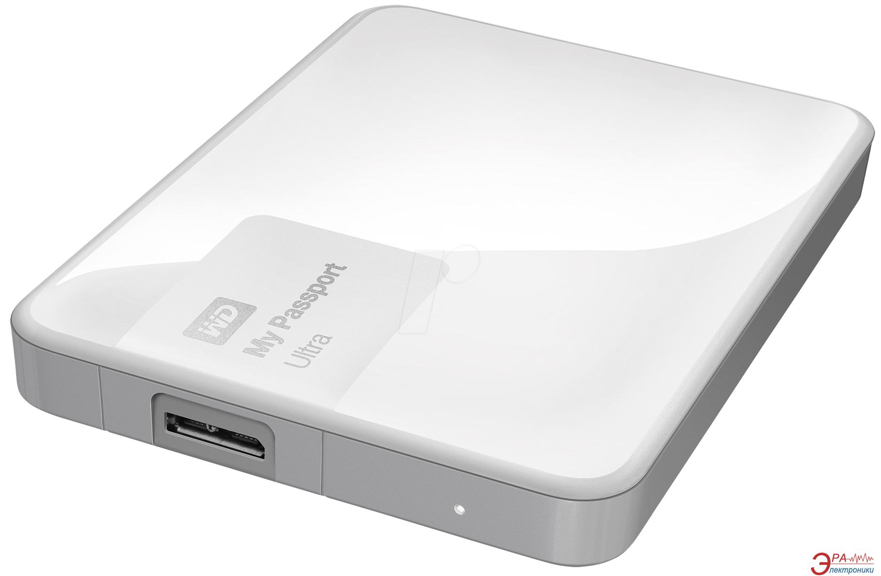 Внешний винчестер 500GB WD My Passport Ultra White (WDBWWM5000AWT-EESN)