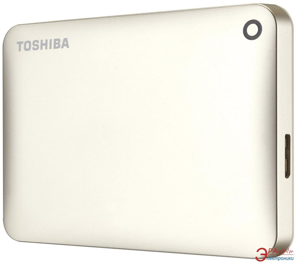 Внешний винчестер 3TB Toshiba Canvio Connect II Satin Gold (HDTC830EC3CA)