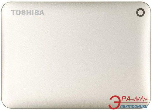 Внешний винчестер 500GB Toshiba Canvio Connect II Satin Gold (HDTC805EC3AA)
