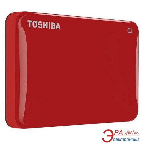 Внешний винчестер 500GB Toshiba Canvio Connect II Red (HDTC805ER3AA)