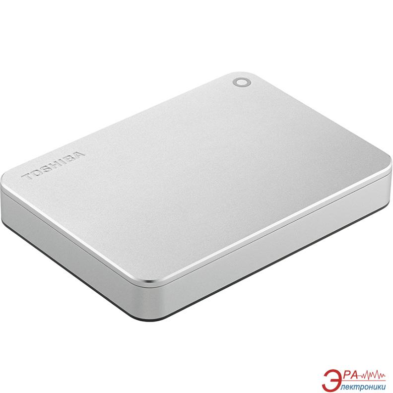 Внешний винчестер 2TB Toshiba Canvio Premium Mac Silver (HDTW120ECMCA)