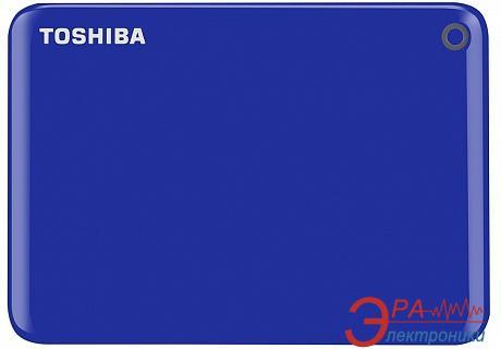 Внешний винчестер 500GB Toshiba Canvio Connect II Blue (HDTC805EL3AA)