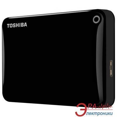 Внешний винчестер 500GB Toshiba Canvio Connect II Black (HDTC805EK3AA)