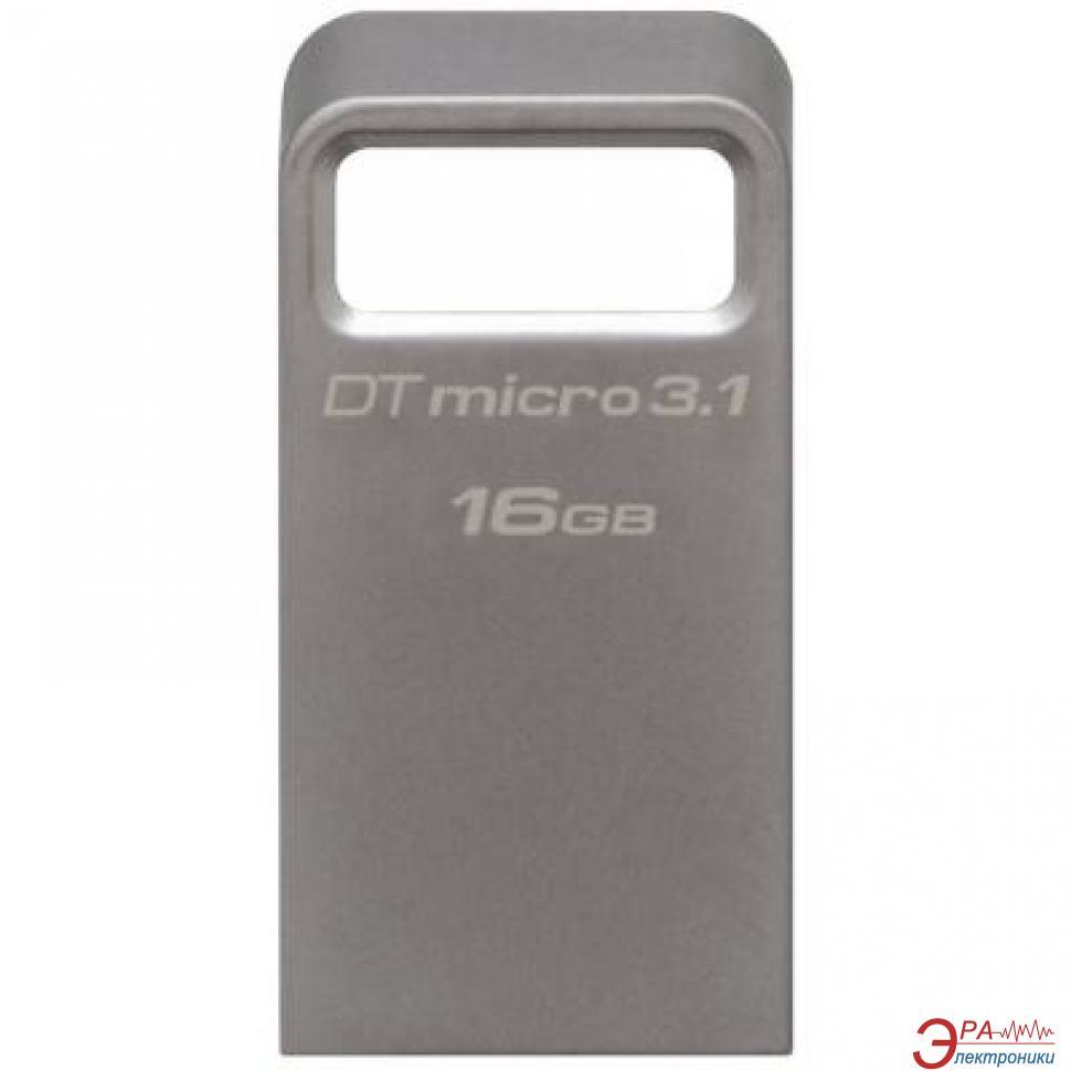 Флеш память USB 3.1 Kingston 16 Гб DataTraveler Micro 3.1 (DTMC3/16GB)