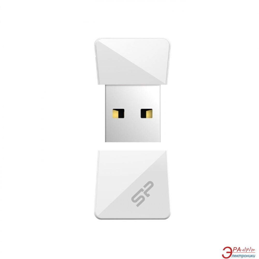 Флеш память USB 2.0 Silicon Power 32 Гб Touch T08 White (SP032GBUF2T08V1W)