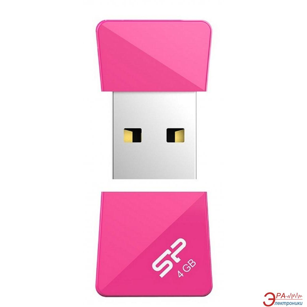 Флеш память USB 2.0 Silicon Power 4 Гб Touch T08 Peach (SP004GBUF2T08V1H)