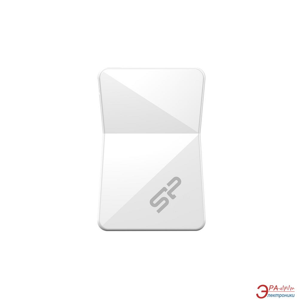 Флеш память USB 2.0 Silicon Power 4 Гб Touch T08 White (SP004GBUF2T08V1W)