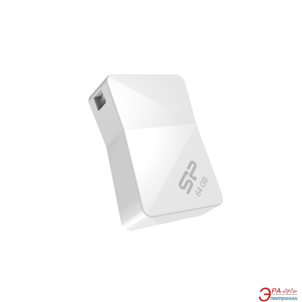 Флеш память USB 2.0 Silicon Power 64 Гб Touch T08 White (SP064GBUF2T08V1W)
