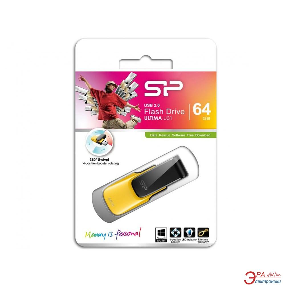 Флеш память USB 2.0 Silicon Power 64 Гб Ultima U31 Yellow (SP064GBUF2U31V1Y)