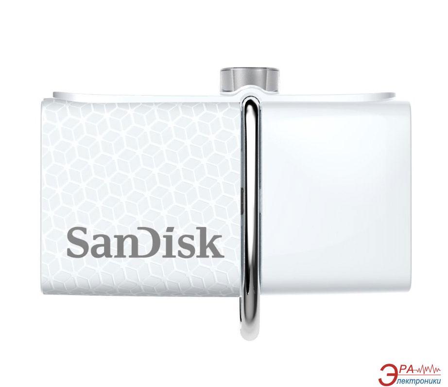 Флеш память USB 3.0/microUSB SanDisk 32 Гб Ultra Dual Drive OTG White (SDDD2-032G-G46W)