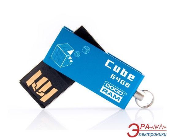 Флеш память USB 2.0 Goodram 64 Гб Cube Blue (PD64GH2GRCUBR9)