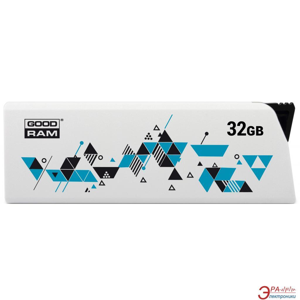 Флеш память USB 2.0 Goodram 32 Гб UCL2 (Cl!ck) White (UCL2-0320W0R11)