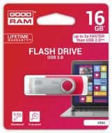 Флеш память USB 3.0 Goodram 16 Гб UTS3 (Twister) Red (UTS3-0160R0R11)