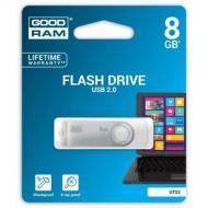 Флеш память USB 2.0 Goodram 8 Гб UTS2 (Twister) White (UTS2-0080W0R11)