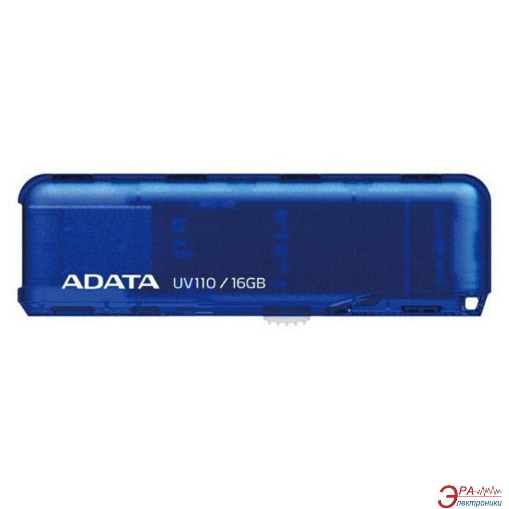 Флеш память USB 2.0 ADATA 16 Гб UV110 Blue (AUV110-16G-RBL)