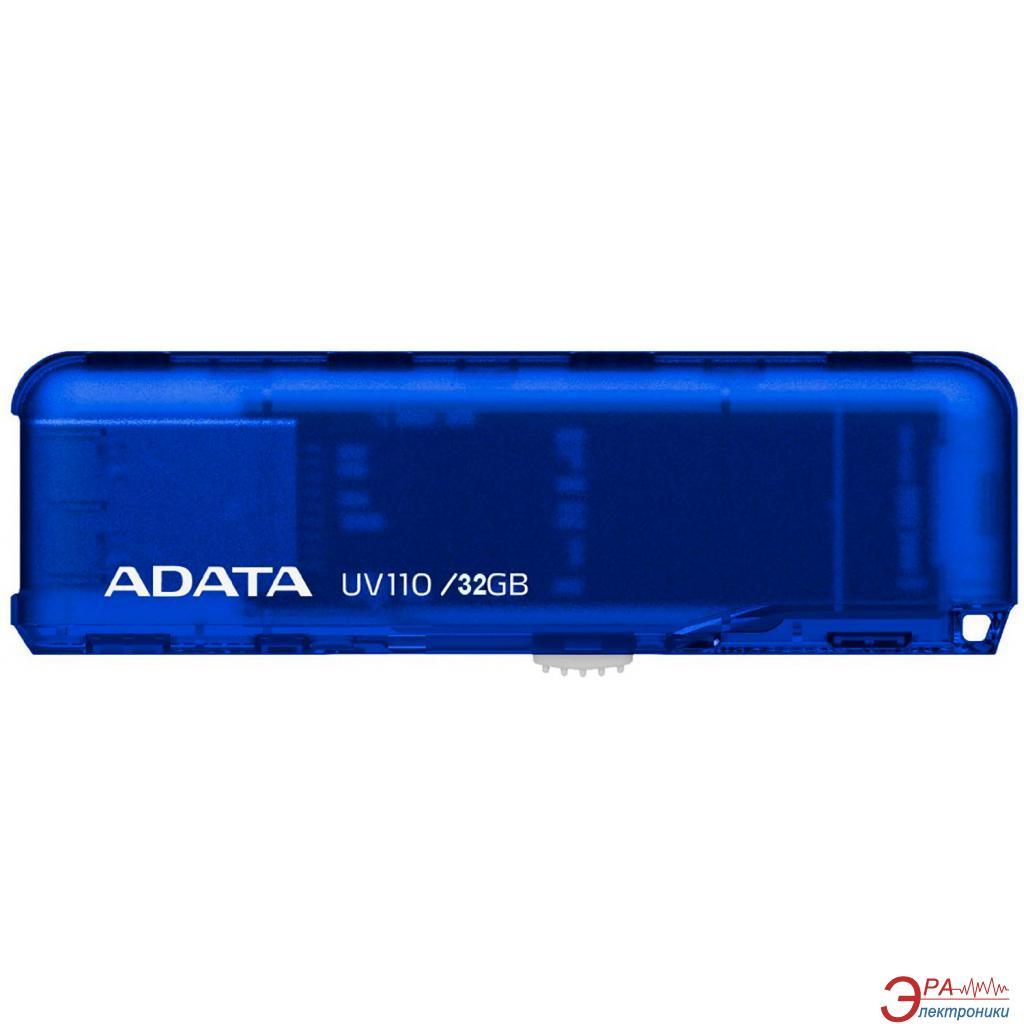 Флеш память USB 2.0 ADATA 32 Гб UV110 Blue (AUV110-32G-RBL)
