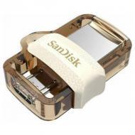 Флеш память USB 3.0 SanDisk 64 Гб Dual Drive m3.0 OTG White-Gold (SDDD3-064G-G46GW)