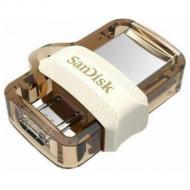 Флеш память USB 3.0/microUSB SanDisk 32 Гб Dual Drive m3.0 OTG White-Gold (SDDD3-032G-G46GW)