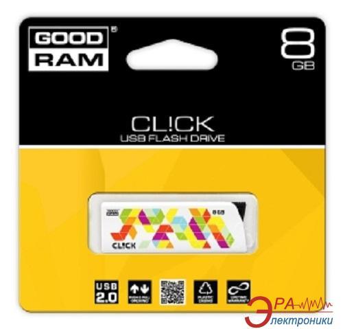 Флеш память USB 2.0 Goodram 8 Гб Click (PD8GH2GRCLWR9)