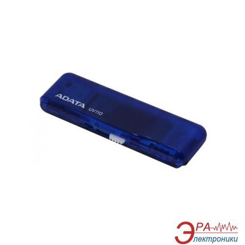 Флеш память USB 2.0 A-Data 8 Гб UV110 Slim Blue