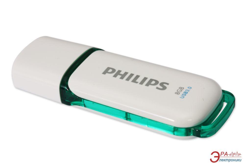 Флеш память USB 3.0 Philips 8 Гб Snow (FM08FD75B/97)