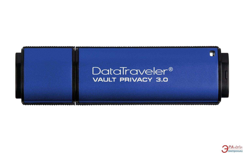 Флеш память USB 3.0 Kingston 8 Гб DataTraveler Vault Privacy 3.0 (DTVP30/8GB)