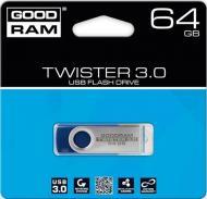 Флеш память USB 2.0 GoodDrive 64 Гб TWISTER Blue (PD64GH3GRTSBR9)