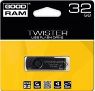 Флеш память USB 2.0 Goodram 32 Гб TWISTER RETAIL 9 Black clip (PD32GH2GRTSKKR9)