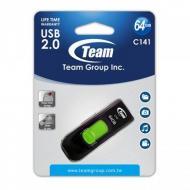 Флеш память USB 2.0 Team 64 Гб C141 Green (TC14164GG01)