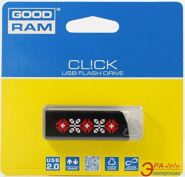 Флеш память USB 2.0 GoodDrive 16 Гб CL!CK УКРАИНА, Черный (PD16GH2GRCLKR9L)